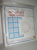"Jack Dempsey Needle Art: 18"" Quilt Squares Starburst of Hearts Item 732 ... - $13.95"