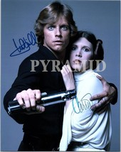 Star WARS- Carrie Fisher & Mark Hamill Autographed Hand Signed Photo w/COA 548 - $185.00