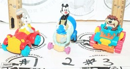 "3 LOT - BUGS BUNNY ANIMANIACS TAZ 2.5"" TOY FIGURE CAR LOONEY TUNES VEHIC... - $8.88"