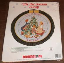 NEW Dimensions Counted Cross Stitch Kit Christmas Tis Season Hoop Be Jol... - $14.80