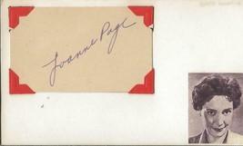 Joanne Page Signed Vintage 3x5 Index Card JSA - $29.69