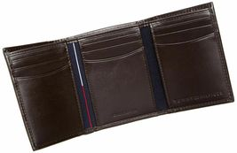 BRAND NEW TOMMY HILFIGER MEN'S LEATHER CREDIT CARD WALLET TRIFOLD BROWN 5676-2 image 5