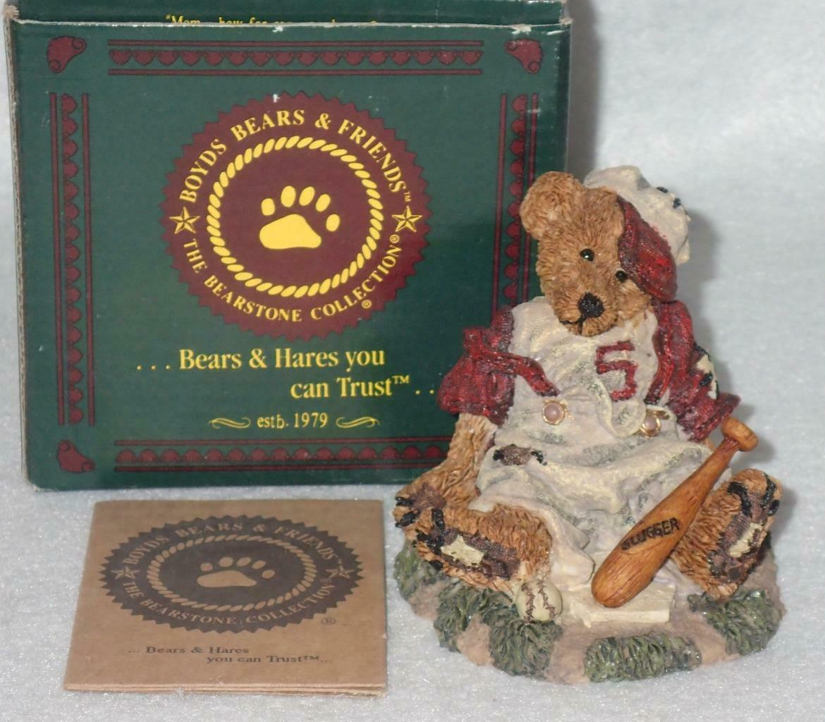 Boyd Bearstone Resin Bears Homer On The Plate RED Figurine #2225 31E NEW IN BOX image 3
