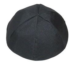 Black Fabric Kippah Yarmulke Yamaka Israel Large 25 cm Judaica