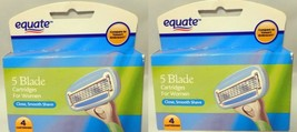 2 x Equate 5 Blade Razor Cartridges For Women,4 Cartridges - $7.91
