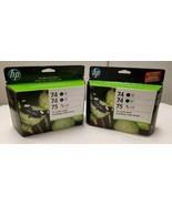 HP 74 75 Ink Cartridge Combo Pack CD976FN Black Tri-color NIB Box Exp 20... - $31.74
