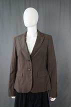 Banana Republic Brown Pinstriped Blazer Sz 14 Office, Work, Career, Job,... - $19.95