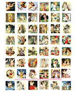 "angel cherub vintage clipart printable digital download collage sheet 1""... - $3.99"