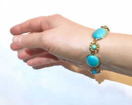VERY big cabs Arts&Crafts turquoise Victorian Persian turquoise clasp br... - $3,439.00