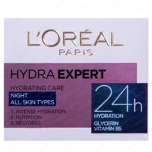 L'OREAL Hydra Expert Night Cream All Skin Types 50 ml - $13.10