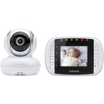 Wireless Video Baby Monitor 2.8-Inch Color LCD Two-Way AudioMotorola MBP33S - $107.80