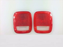 Acrylic Rear Tail Light Lens Set Compatible with Jeep Wrangler CJ 76-86 TJ YJ