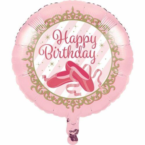 """Twinkle Toes """"Happy Birthday"""" Metallic Balloon Ballerina Ballet"""