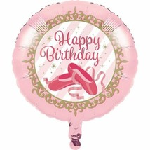 "Twinkle Toes ""Happy Birthday"" Metallic Balloon Ballerina Ballet - $4.17"