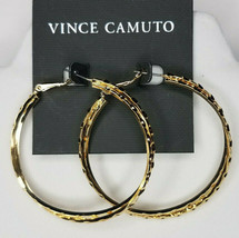 Vince Camuto Goldtone Twisted Texture Circle Hoop Earrings NEW $18 - $16.83