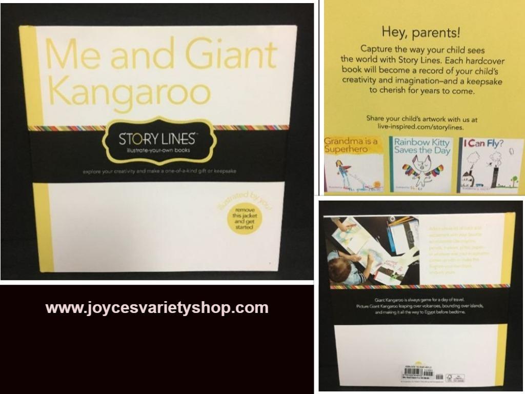Kangaroo book web collage
