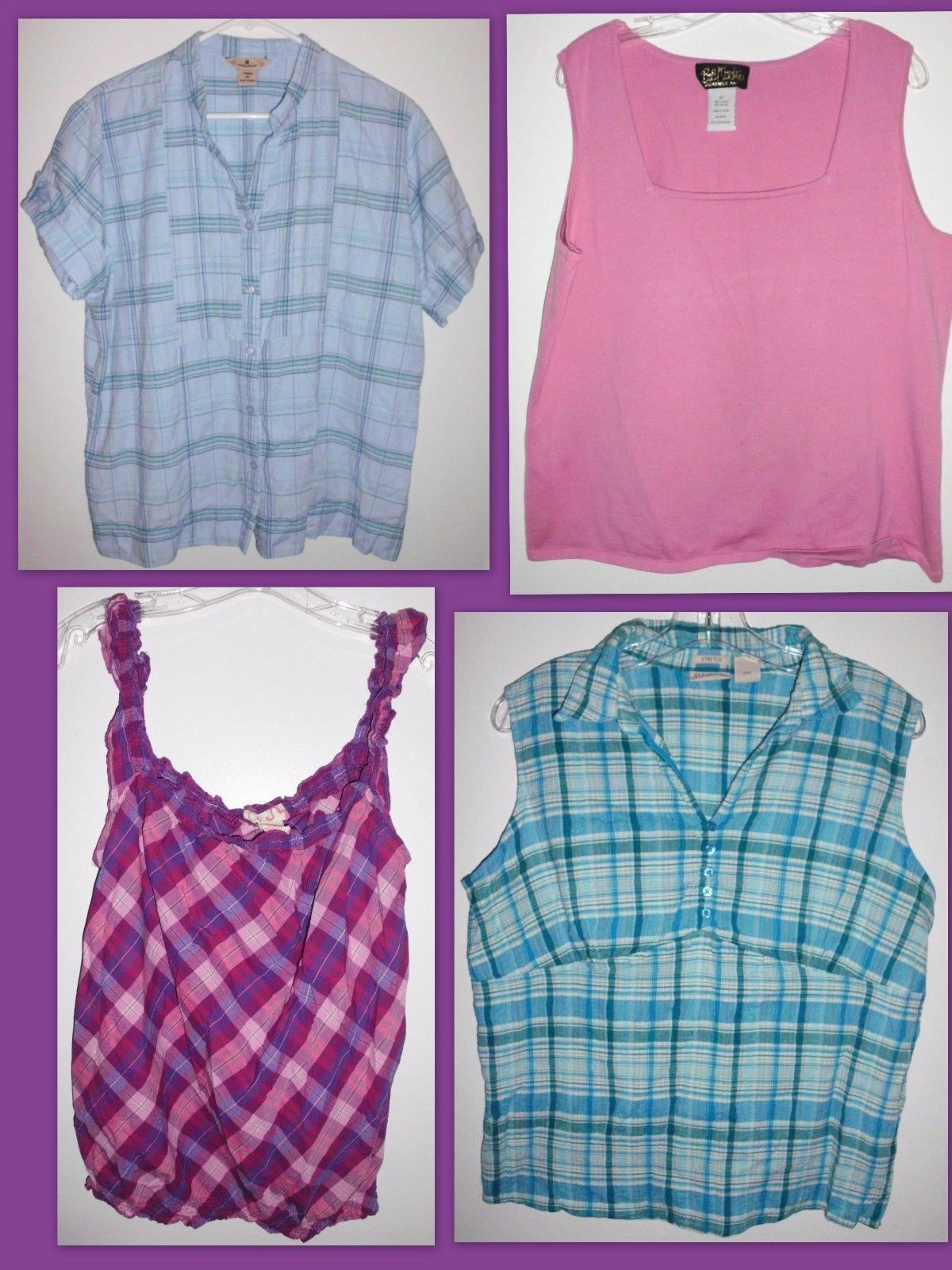 Primary image for Bob Mackie, Woolrich, OP, St. John's Bay Shirts X-LARGE - Lot of 4 Tops