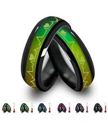 Titanium Steel Heartbeat ECG Color Change Mood Ring 1 pcs For Lovers Fr... - $26.24