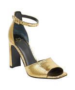 Marc Fisher Harlin Gold Leather Ankle Strap Sandals, Size 5.5 M - $39.59