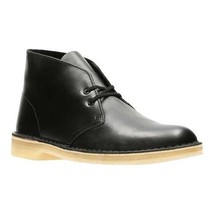 Clarks Originals Desert Boot Men's Matte Black Leather 26128792 - $130.00