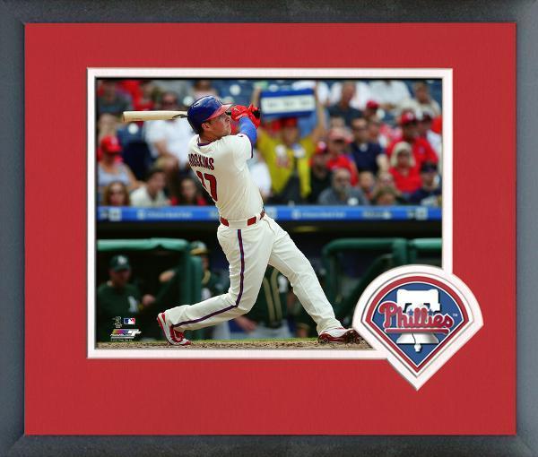 Rhys Hoskins 2017 Philadelphia Phillies Rookie -11x14 Logo Matted/Framed Photo