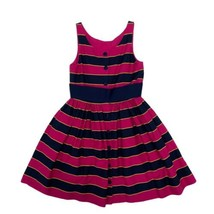 Polo Ralph Lauren Pink Blue Striped A- Line Girl's sz 8 (H-1C) - $24.75