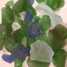 Sea Glass, Decorative Accent Gems, Green Blue White Stones, 11oz bag image 5