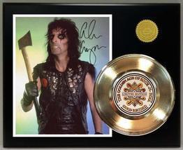 Alice Cooper 24Kt Gold Record Signature Series LTD Edition Display - $85.45