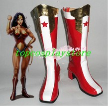 Wonder Woman cos Cosplay Shoes Boots shoe boot #JZ279 style2 - $65.00