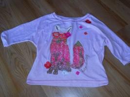 Girls Size Medium Cherokee Pink Cropped 3/4 Sleeve Fox Shirt Top HELLO Darling - $12.00