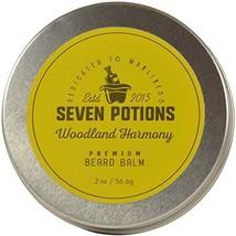 Seven Potions Beard Balm 2 oz. 100% Natural, Organic with Jojoba Oil. Makes Your image 1