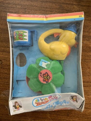 Primary image for Vintage Kusan Zoodle Land Mixer Toy Kitchen Made in USA Sealed New Lil'