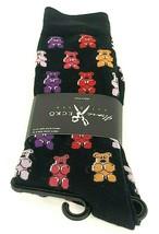 Gummy Bears Black Men's Crew Size 6-12 Sock Size 10-13 1 Pair - $14.99