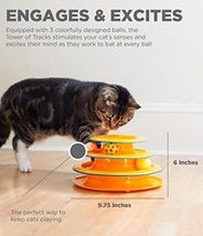Petstages Tower Of Tracks Ball And Track Interactive Toy For Cats, Fun Cat Game image 5