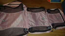 LOT OF 3 HEYS  PACKMATE ORGANIZER BAGS PINK - £7.22 GBP