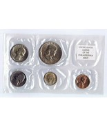 Vintage 1963 US Mint Sealed Uncirculated 5 Coin Set Philadelphia - $27.86