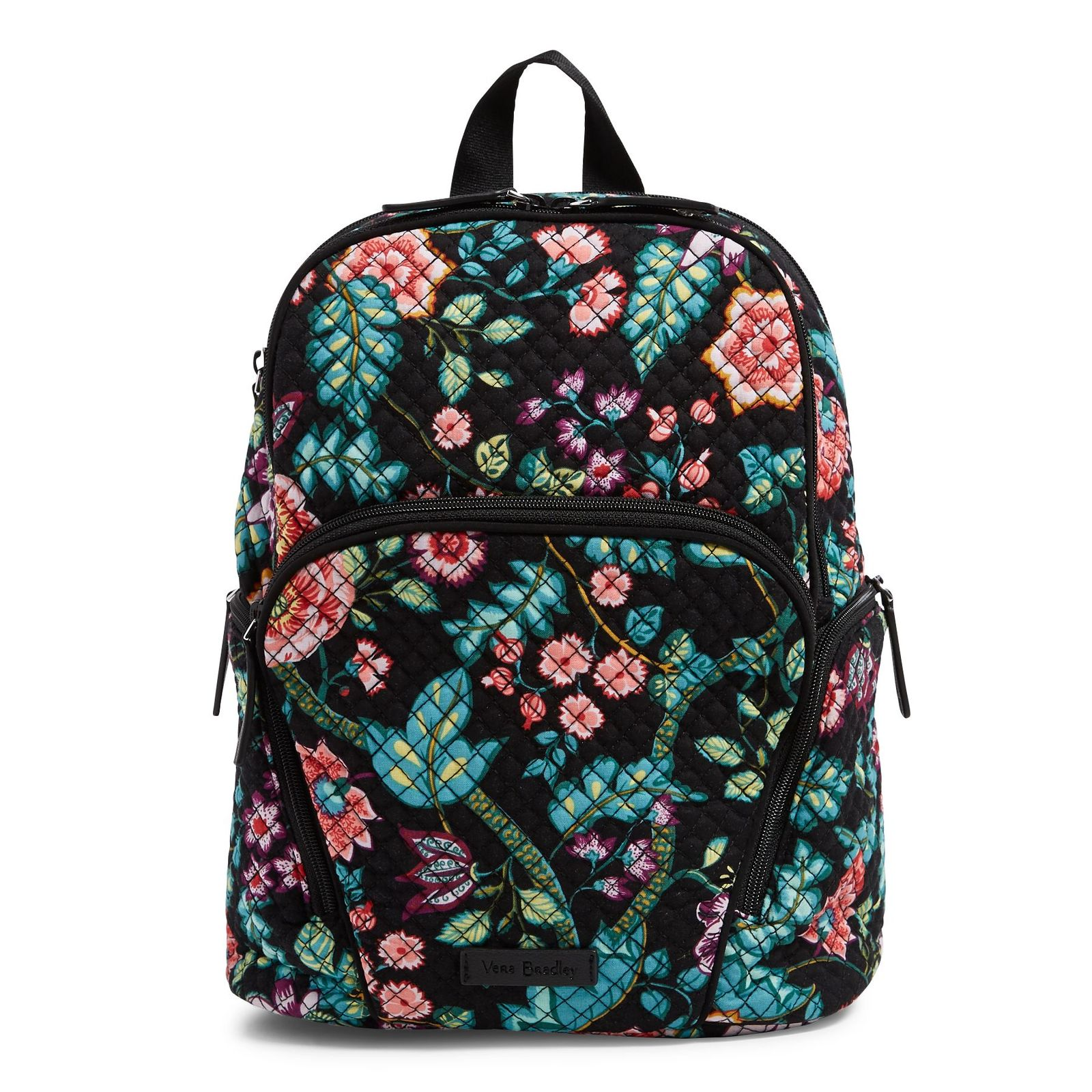 Vera Bradley Quilted Signature Cotton Hadley Backpack, Vines Floral