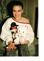 Alyssa Milano Chad Allen teen magazine pinup clipping hodling a bear