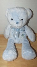 Carters Just One Year Plush Teddy My first Bear Rattle blue bow airplane... - $13.36