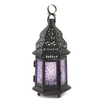 Moroccan Lantern Decor, Rustic Purple Lamp Decorative Lanterns For Candles - €16,67 EUR