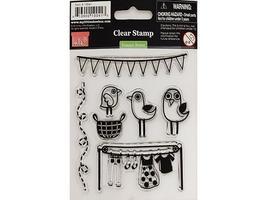 My Little Shoebox Summer Breeze Clear Cling Stamp Set #10041