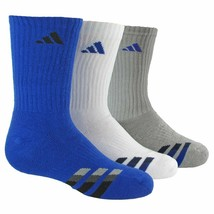 Adidas 3-pk. Boy's Cushioned Low Cut Socks Size Youth 13C-4Y#314G - $11.87