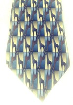"Nature Conservancy Giraffe Preservation Tie 58"" Collection Blue Brown Gr... - $21.24"