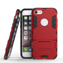 Slim Armor Shockproof Kickstand Protective Case for iPhone 7 4.7inch - Red - $4.99