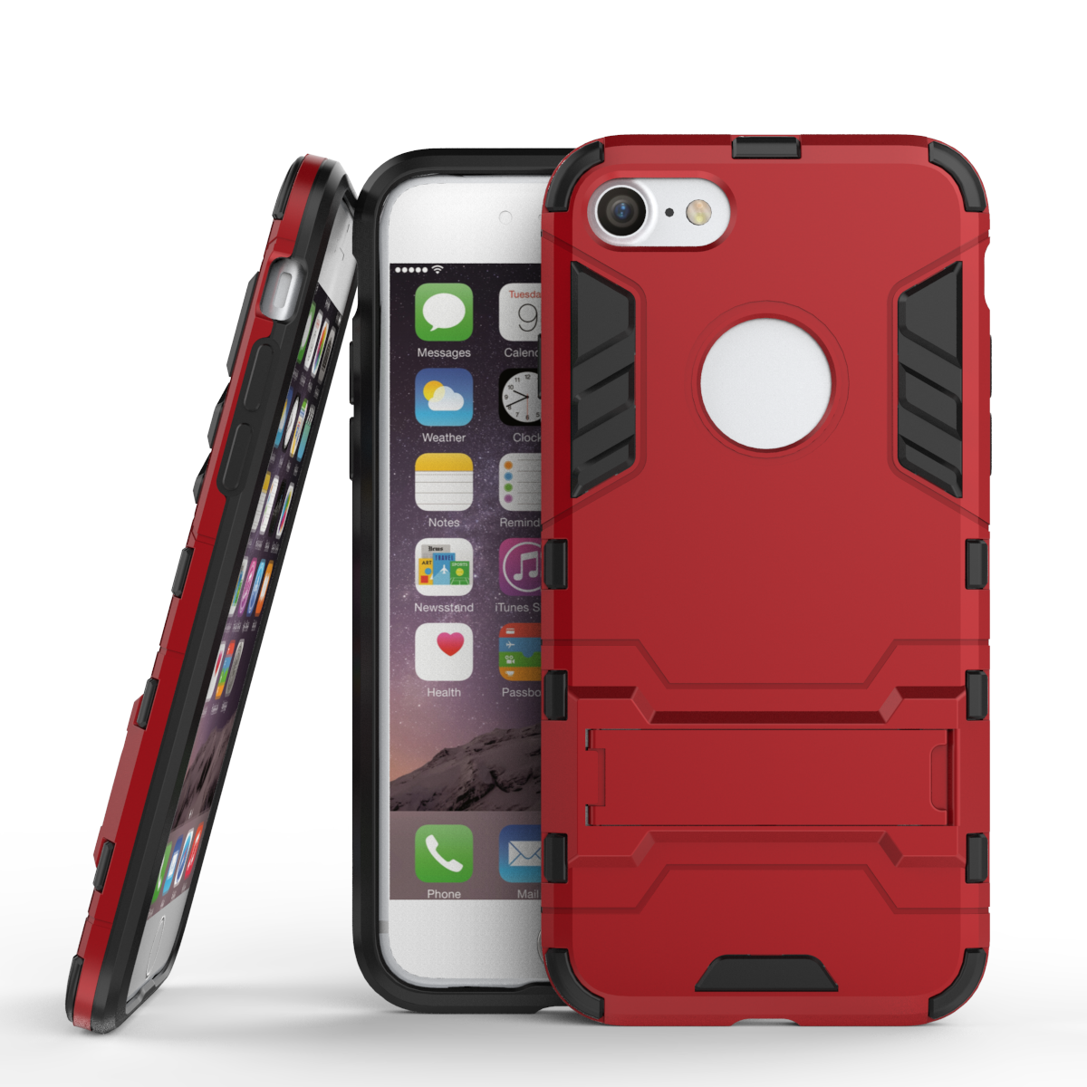 Slim armor shockproof kickstand protective case for iphone 7 4 7inch red p20160907134346821