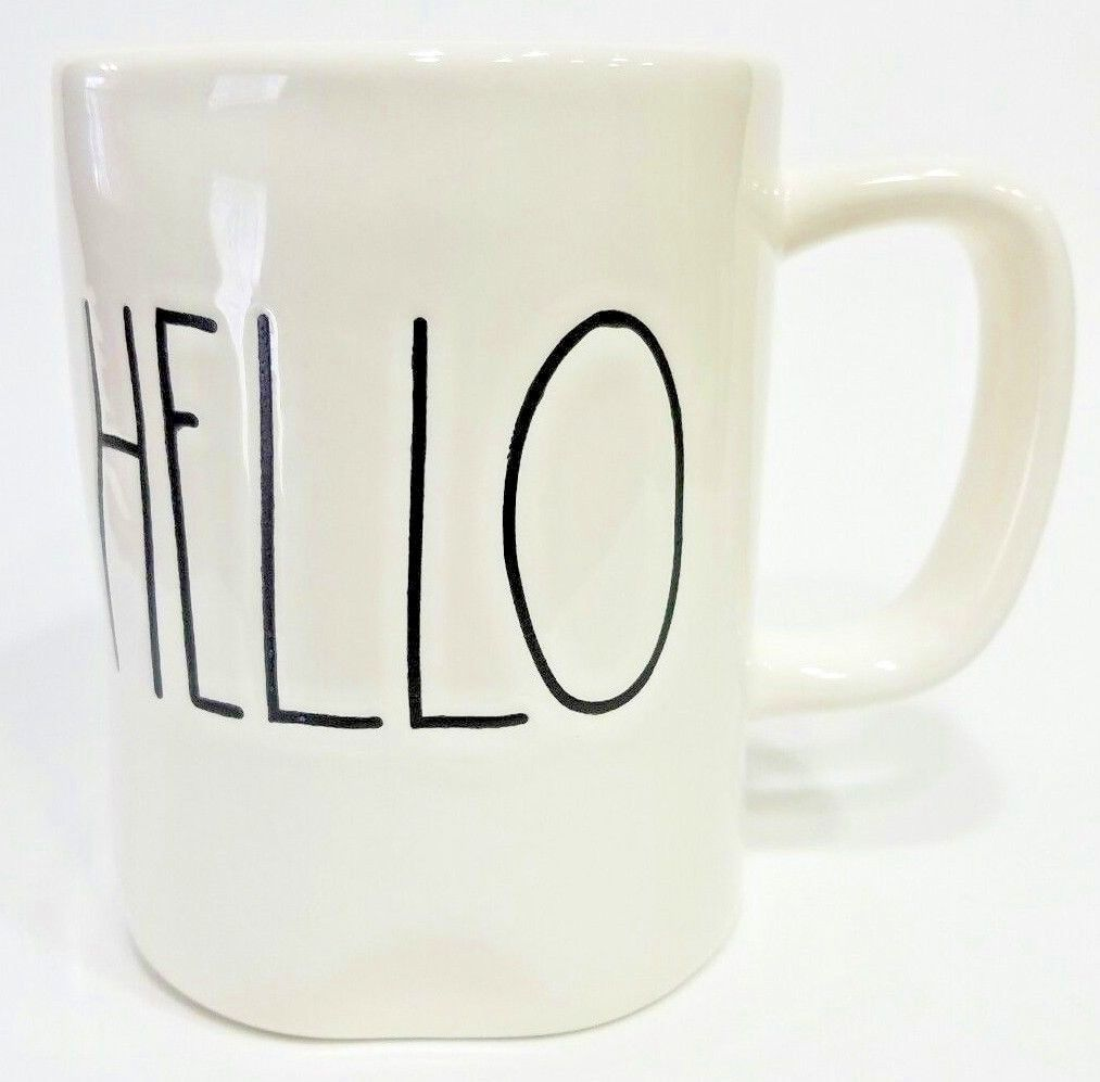 New Rae Dunn Artisan Collection Hello Coffee Tea Mug Home