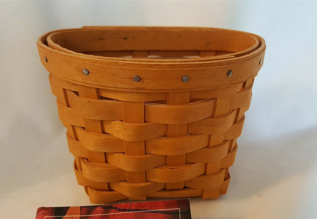 Longaberger 1999 OREGANO BOOKING BASKET With Plastic Protector