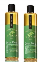 2 Bath & Body Works Aromatherapy Stress Relief Eucalyptus Spearmint Oil ... - $29.50