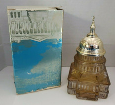 Vintage Avon The Capital in Amber Depicts US Capitol Building Wash. DC w/box - $14.99