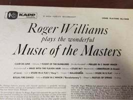 Roger Williams plays the wonderful Music of the Masters 1956 Used Vinyl Record image 4